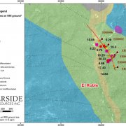 El Roble High Grade Gold Surface Rock Sample Results and Location of Drill Holes