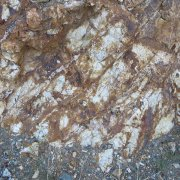 Outcrop altered iron staining Mexico